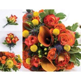 Bulk wedding flowers sams club wedding collection earth tone 17 pc mightylinksfo