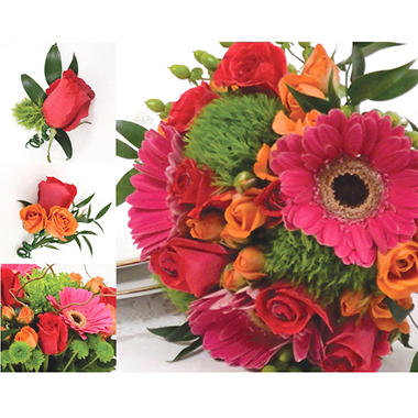 Wedding Collection - Hot Pink, Green and Orange (10 pc.)