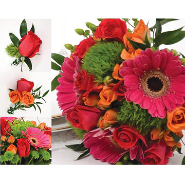 Wedding Collection - Hot Pink, Green and Orange (23 pc.)
