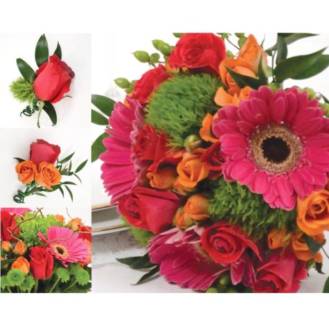 Wedding Collection - Hot Pink, Green and Orange (33 pc.)