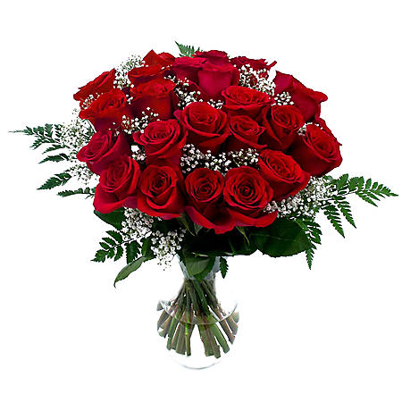 Rose Bouquet, Red (6 bouquets, vases not included)