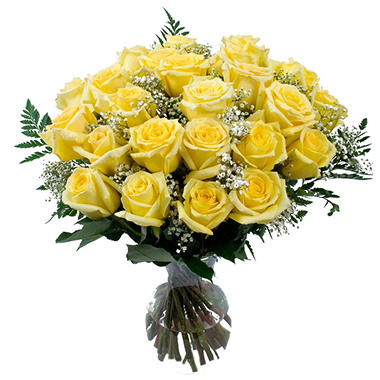Rose Bouquet, Yellow (6 bouquets, vases not included)
