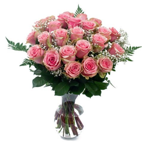 Rose Bouquet, Pink (6 bouquets, vases not included)