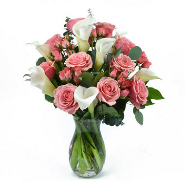VARIANTED Pink Rose & Calla Lily Bouquet