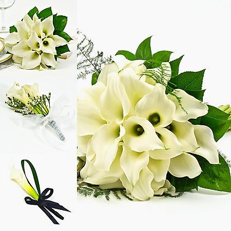 Wedding Collection Mini White Calla Lily (17 pieces)