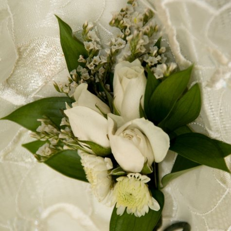 Wedding Collection  - White  - Corsages and Boutonnieres - 12pc