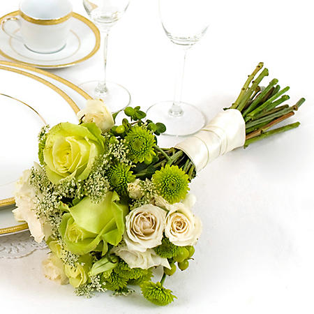 Wedding Collection Green and White, Bridesmaid Bouquets (Choose 2 or 3 pieces)