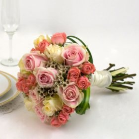 Bridesmaid bouquets sams club wedding collection pink bridesmaid bouquets 3 pc mightylinksfo