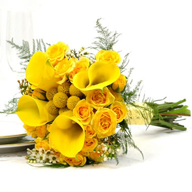 Wedding Collection - Yellow - Bridesmaid Bouquets - 2pc