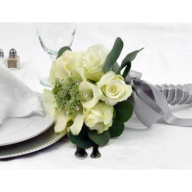 Wedding Collection - Platinum Now and Forever - Bridesmaid Bouquets - 2pc
