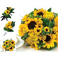 Sunflower wedding collection yellow 17 pc sams club sunflower wedding collection yellow 10 pc junglespirit Gallery