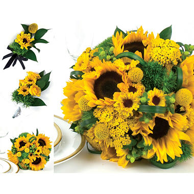 Sunflower wedding collection yellow 17 pc sams club sunflower wedding collection yellow 17 pc mightylinksfo
