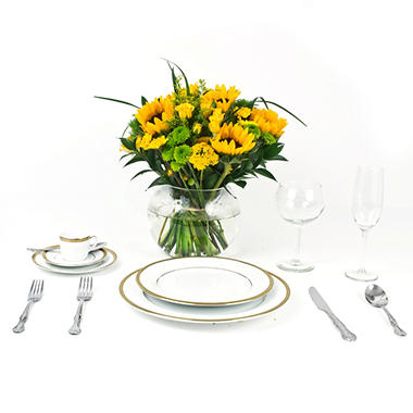 Sunflower  Wedding Collection - Yellow  - Centerpieces - 6 pc.