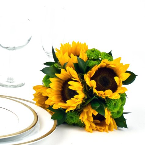 Wedding Collection -Yellow - Bridesmaid Bouquets - 2pc