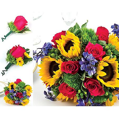 Wedding Collection Sunflower Bright (17 pieces)