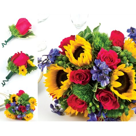 Wedding Collection Sunflower Bright (33 pieces)
