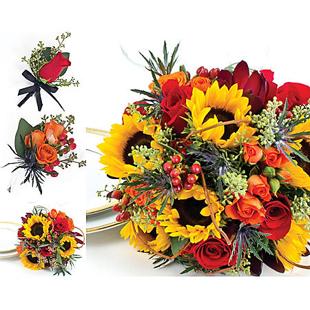 Wedding Collection Fall Sunflower (17 pieces)