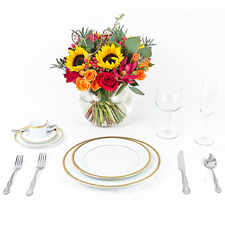 Wedding Collection Fall Sunflower, Centerpieces (6 pieces)
