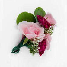 Marsala Enchanted Wedding Collection - Corsages and Boutonniers (12 pc.)
