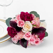 Marsala Enchanted Wedding Collection - Bridesmaids Bouquets (3 pc.)