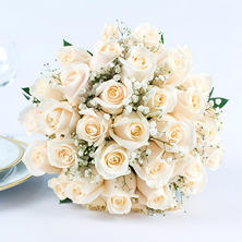 White Rose Wedding Collection 17 Pc