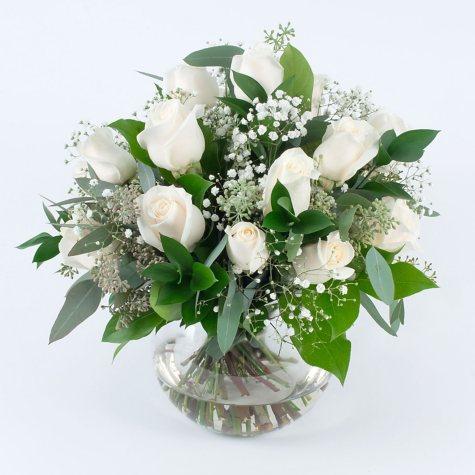 White Rose Wedding Collection - Centerpiece (6 pc.)