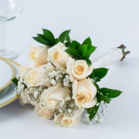 Bridesmaid bouquets sams club white rose wedding collection bridesmaid bouquets 2 pc mightylinksfo