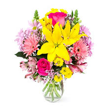 Joyful Spring Bouquet (with vase)