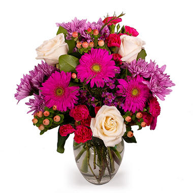 #1 Mom Floral Bouquet (Vase Included)