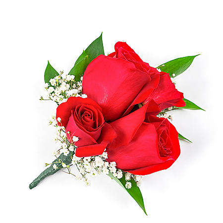 Wedding Collection Red Rose, Corsage and Boutonniere (Choose 12 or 24 piece)