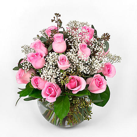 Wedding Collection Pink Rose, Centerpieces (6 pieces)