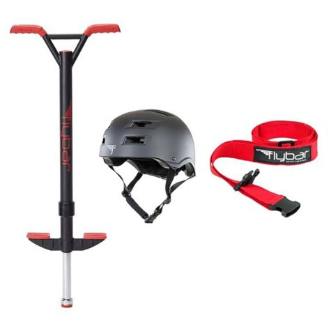 Red Velocity Pro Pogo with Small Black Helmet S/M