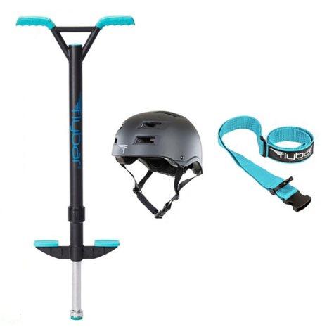 Teal Velocity Pro Pogo with Black Helmet, L/XL