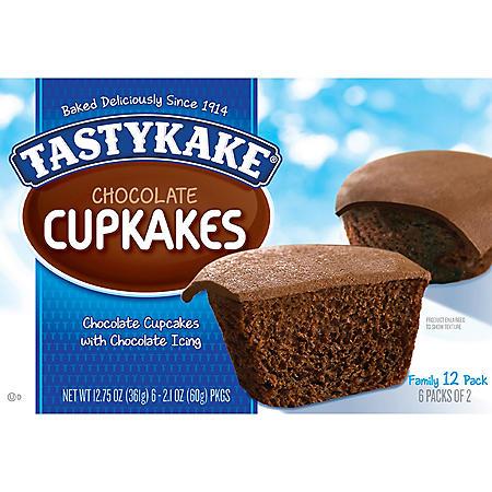 Tastykake Chocolate Cupcakes (2.13oz / 6pk)