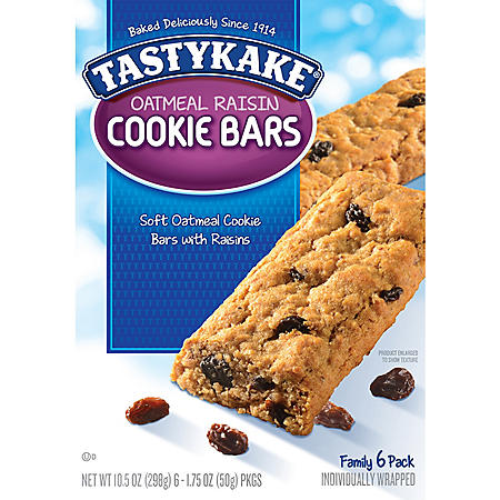 *Deleted* Tastykake Oatmeal Raisin Cookie Bars (1.75oz / 6pk)