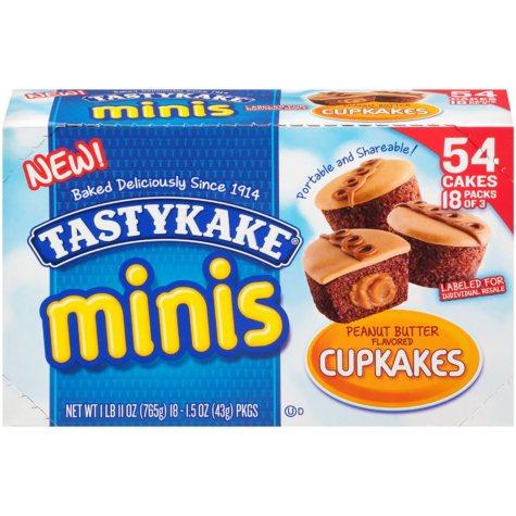 Tastykake Peanut Butter Mini Cupcakes (18 ct., 27 oz.)