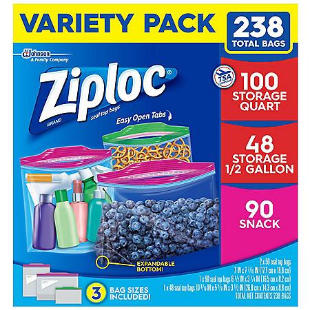 Ziploc Bags Variety Pack (238 ct.)