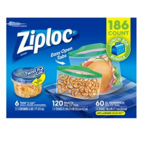 Ziploc Lunch Box Bundle (186 ct.)