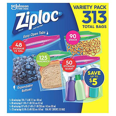 Ziploc Storage/Sandwich/Snack Variety Pack (313 ct.)