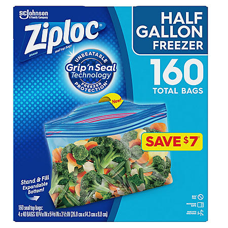 Ziploc Half Gallon Freezer Bags (160 ct.)