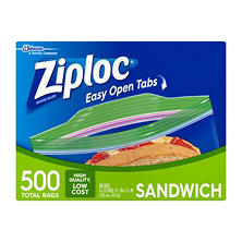 Ziploc Easy Open Tabs Sandwich Bags (500ct.)