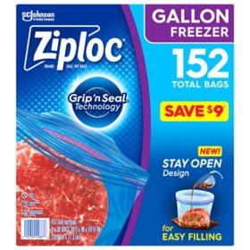 Ziploc Easy Open Tabs Freezer Gallon Bags 152 Ct