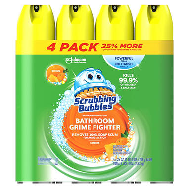 Bathroom Cleaner scrubbing bubbles foaming bathroom cleaner (25 oz., 4 pk.) - sam's