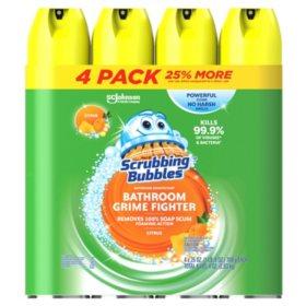 scrubbing bubbles foaming bathroom cleaner 25 oz 4 pk - Bathroom Cleaning Supplies