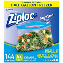 Ziploc Half Gallon Freezer Bags (144 ct.)