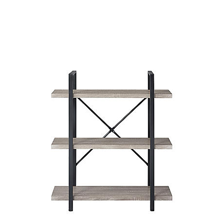 3-Shelf Vintage Industrial Bookshelf