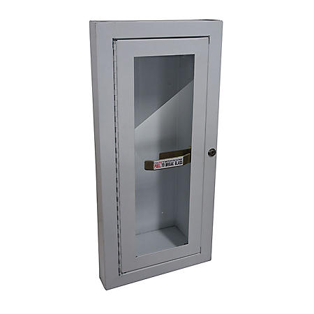 Semi-Recessed Fire Extinguisher Cabinet