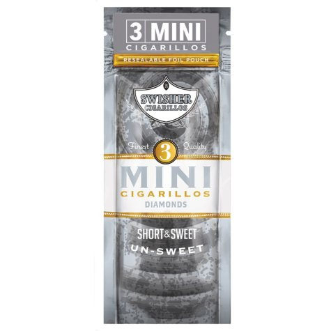 Swisher Sweets Cigarillo, Mini Diamond, Pre-Priced Buy 2 Get 3 Pk. (3 pk., 15 ct.)