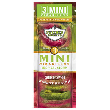 Swisher Sweets Cigarillo, Mini Tropical Storm, Pre-Priced Buy 2 Get 3 Pk. (3 pk., 15 ct.)