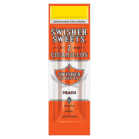 Swisher Sweets Cigarillo, Peach (2 pk, 30 ct.)